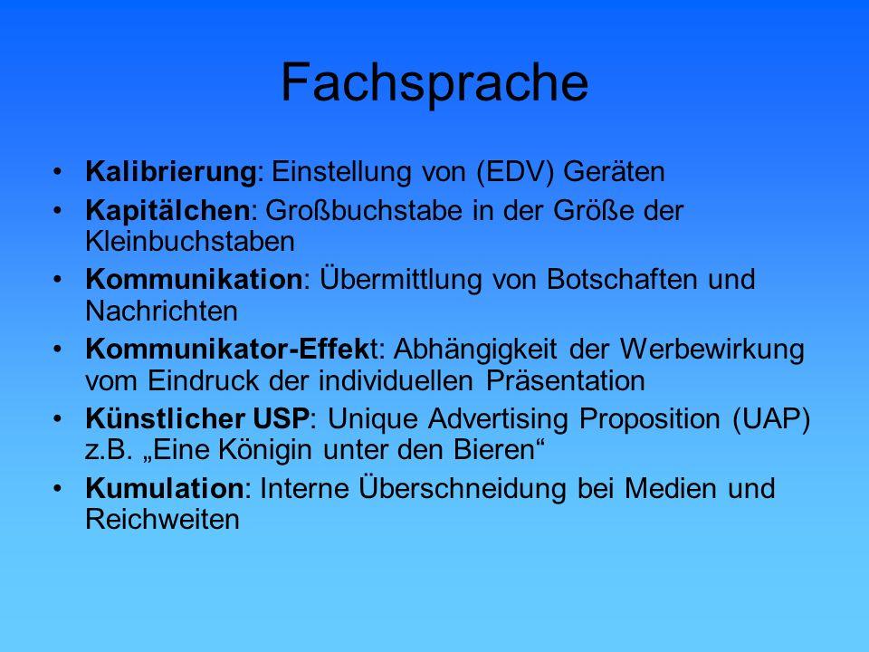 Fachsprache Kalibrierung: Einstellung von (EDV) Geräten