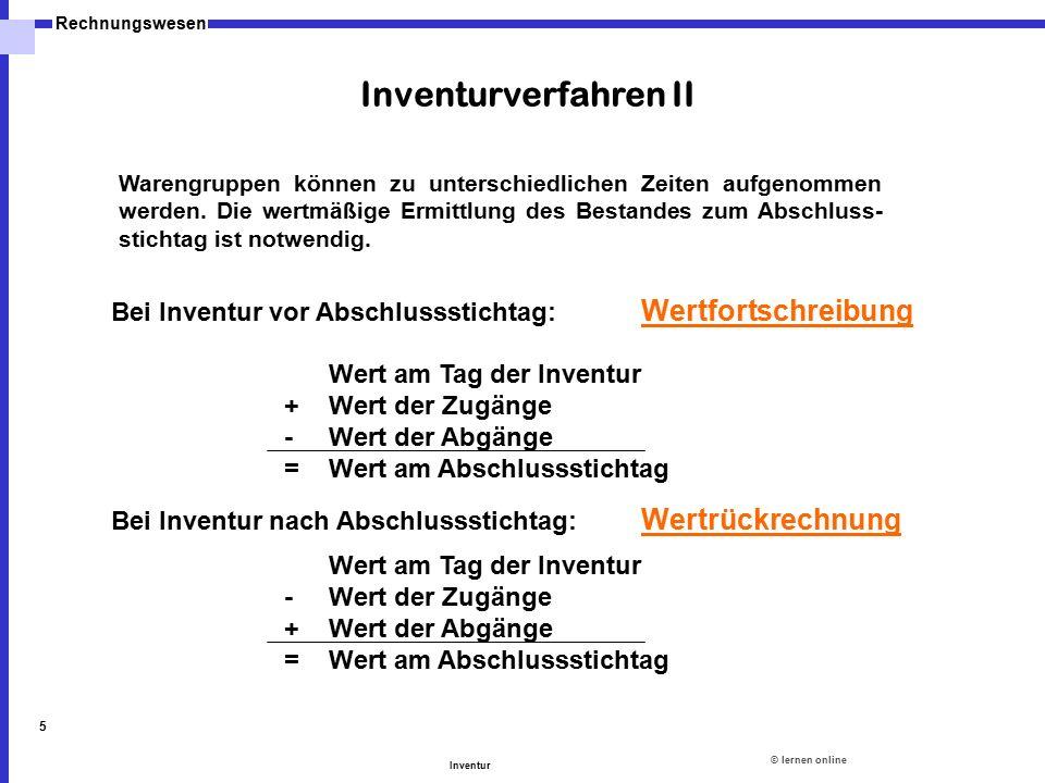 Inventurverfahren II