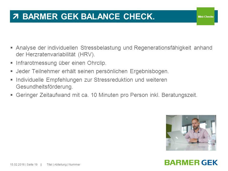 BARMER GEK BALANCE CHECK.