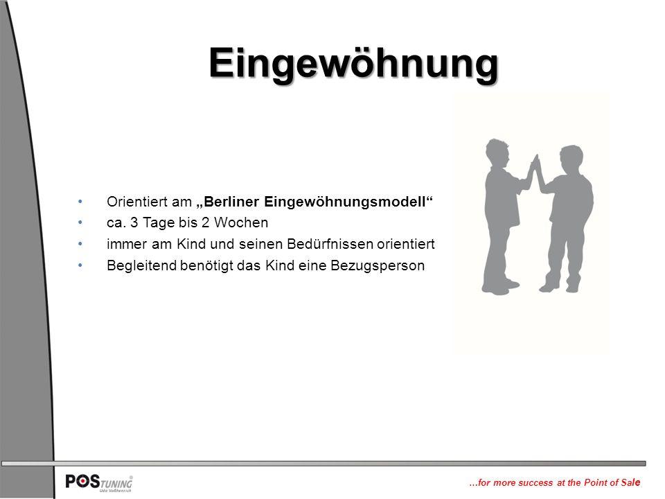 """Eingewöhnung Orientiert am """"Berliner Eingewöhnungsmodell"""