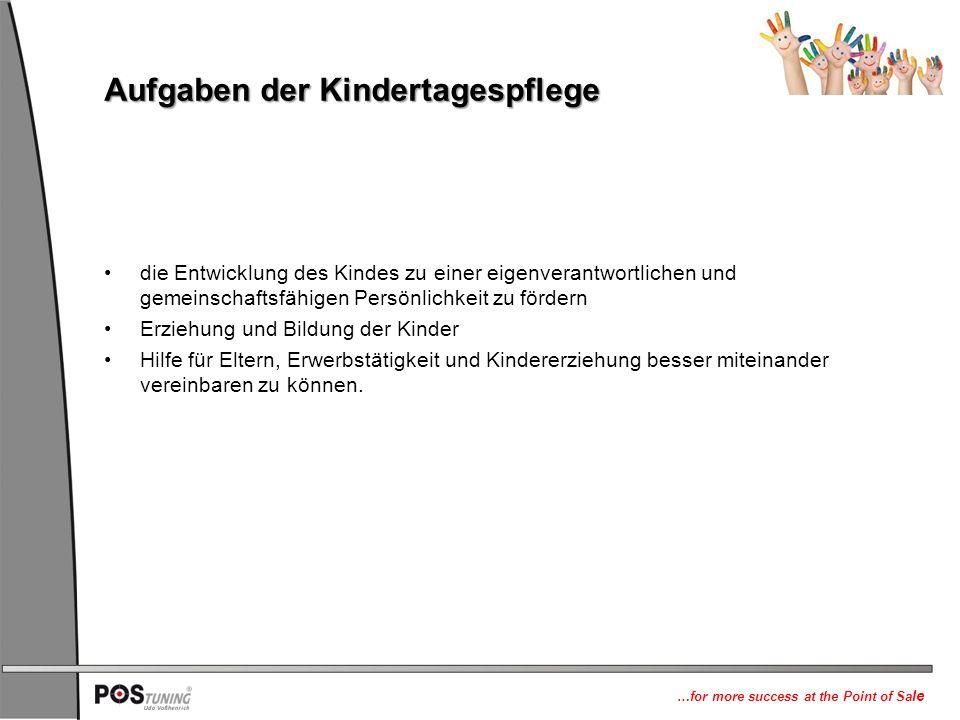 Aufgaben der Kindertagespflege