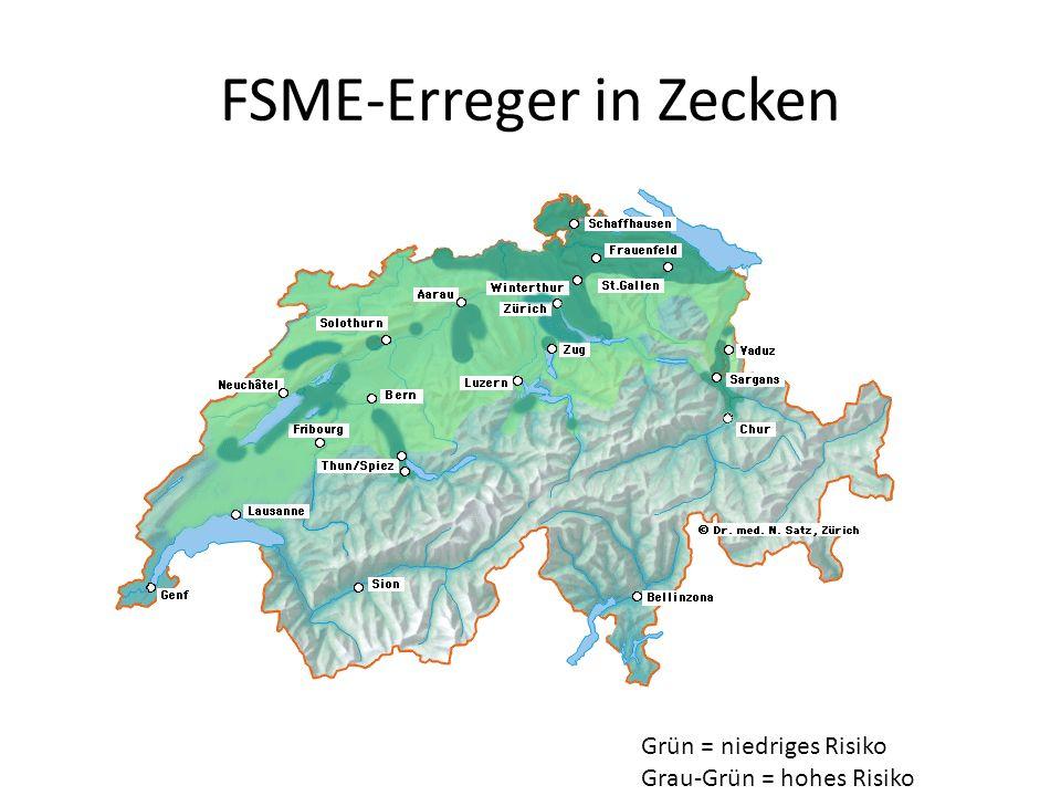 FSME-Erreger in Zecken