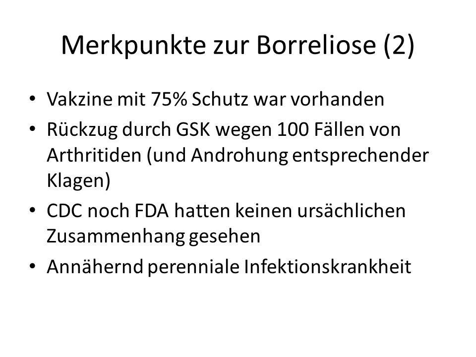 Merkpunkte zur Borreliose (2)