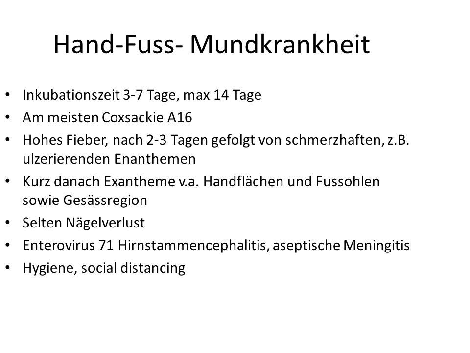 Hand-Fuss- Mundkrankheit