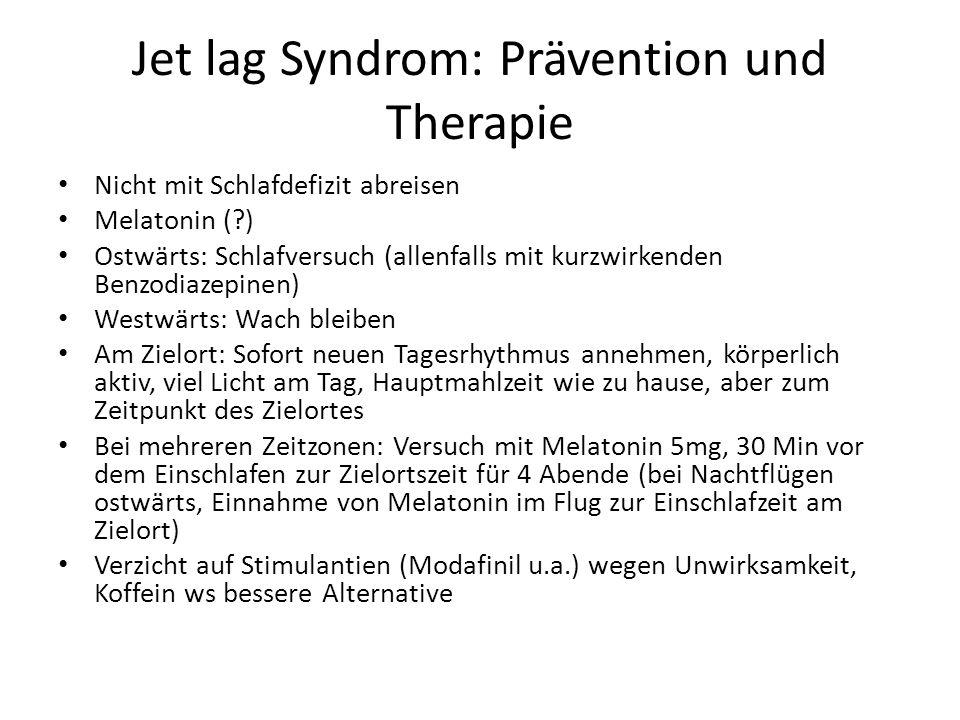 Jet lag Syndrom: Prävention und Therapie