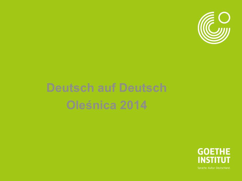 Deutsch auf Deutsch Oleśnica 2014