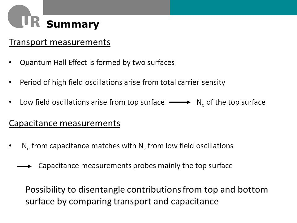 Transport measurements