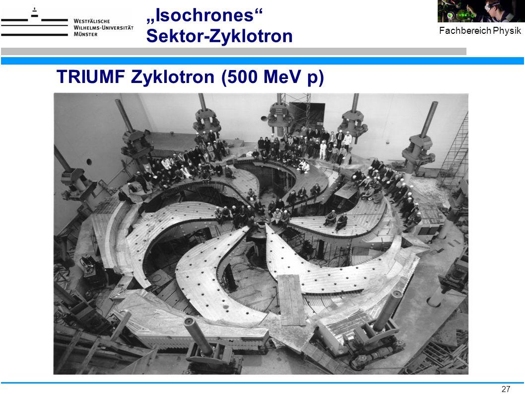 TRIUMF Zyklotron (500 MeV p)