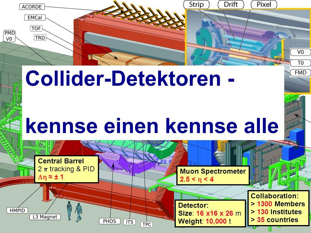 Collider-Detektoren - kennse einen kennse alle