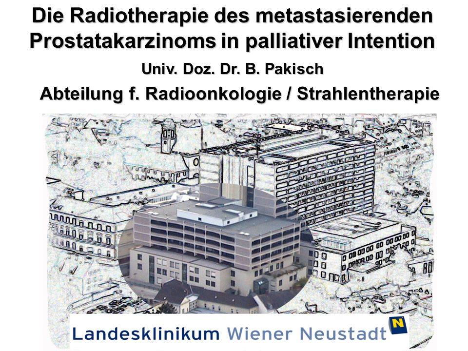 Die Radiotherapie des metastasierenden Prostatakarzinoms in palliativer Intention