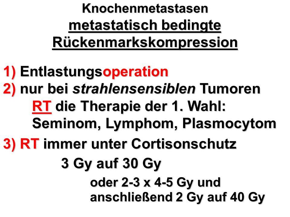 Knochenmetastasen metastatisch bedingte Rückenmarkskompression