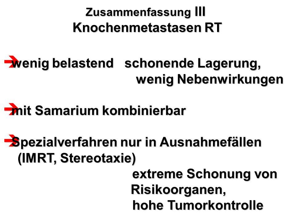 Zusammenfassung III Knochenmetastasen RT