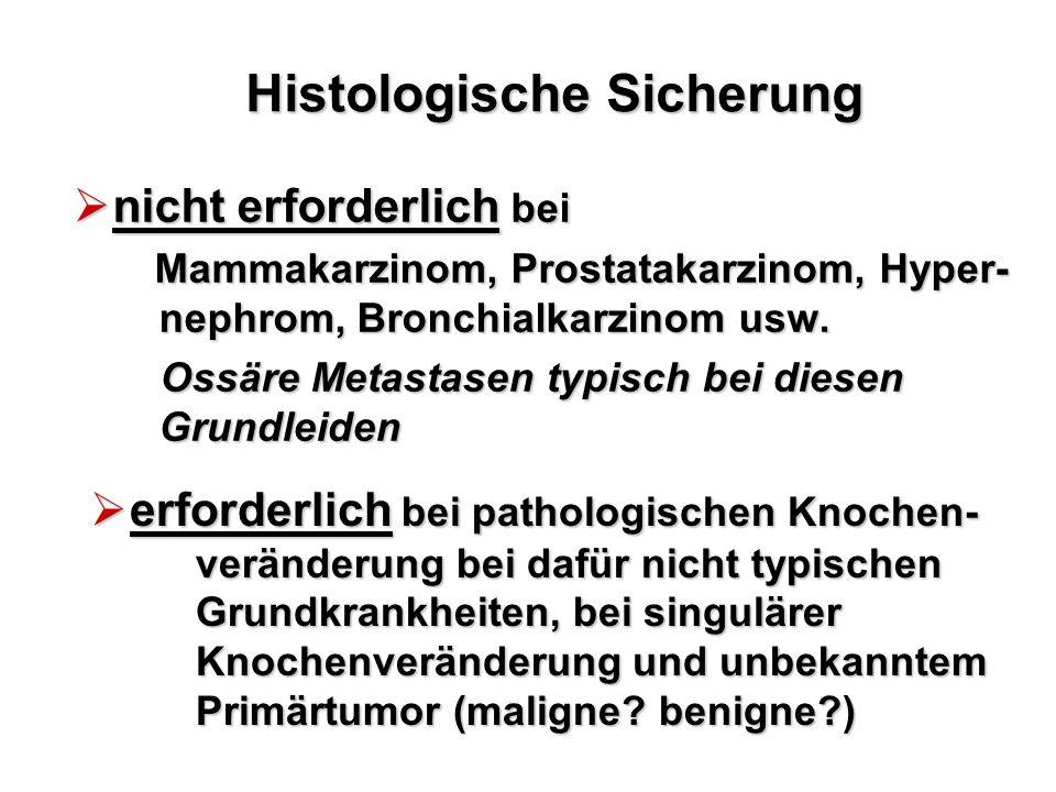 Histologische Sicherung