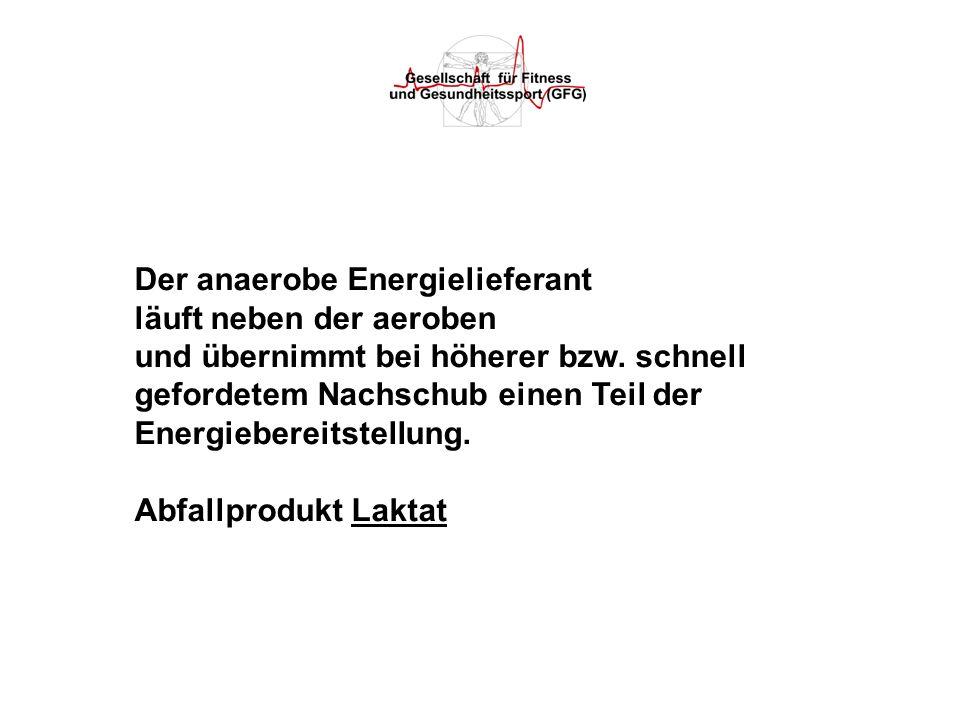 Der anaerobe Energielieferant