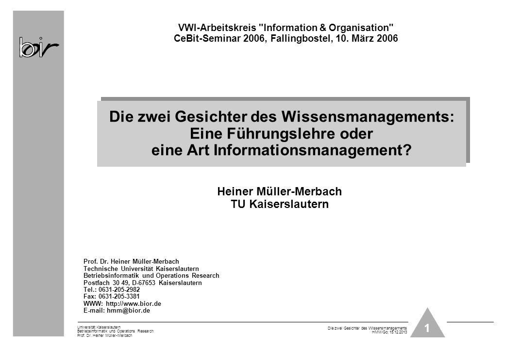 VWI-Arbeitskreis Information & Organisation