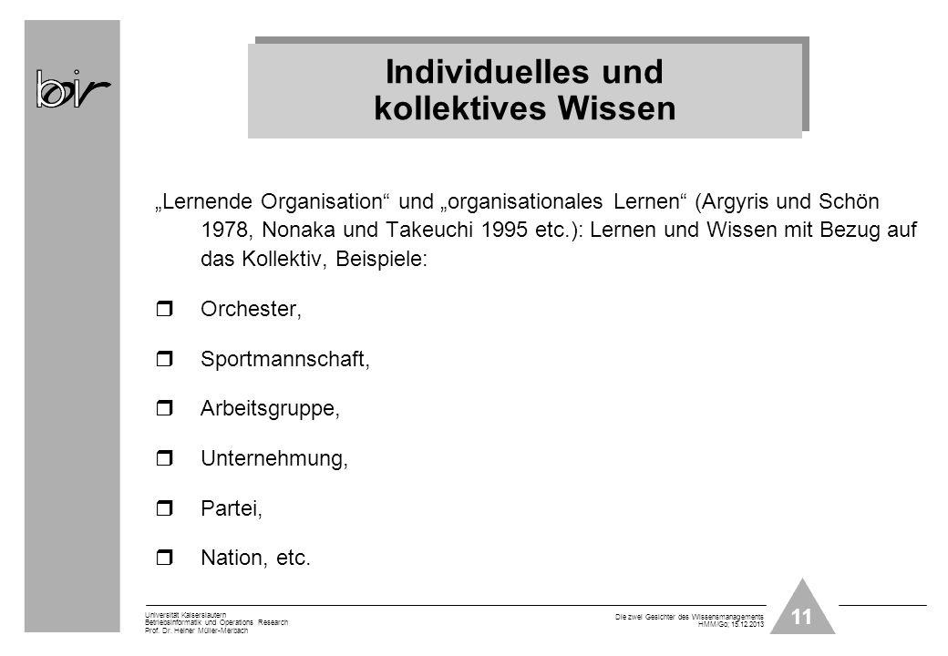 Individuelles und kollektives Wissen