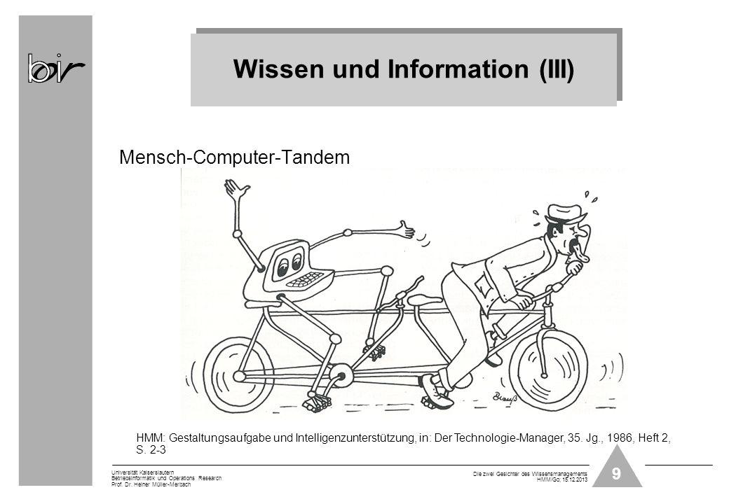 Wissen und Information (III)