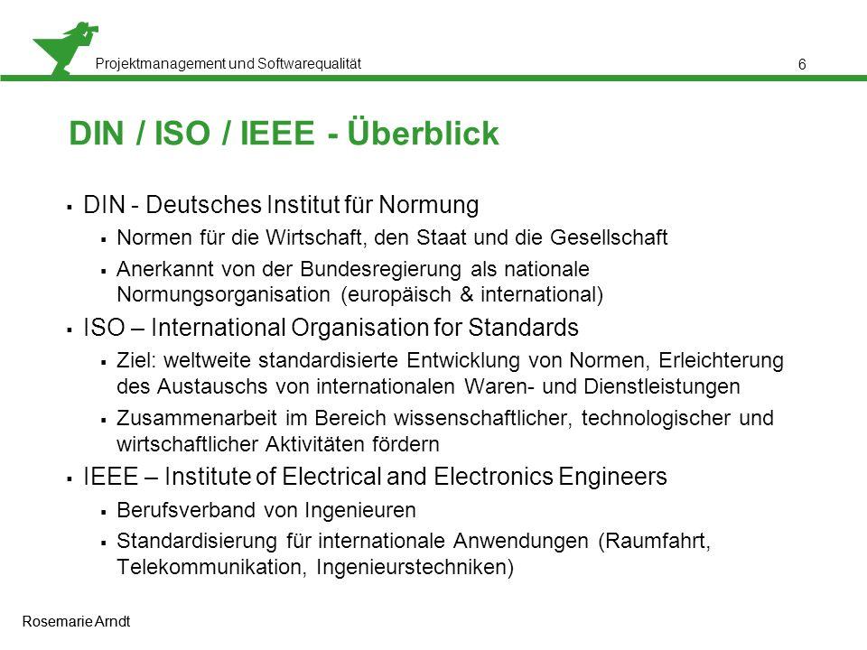 DIN / ISO / IEEE - Überblick