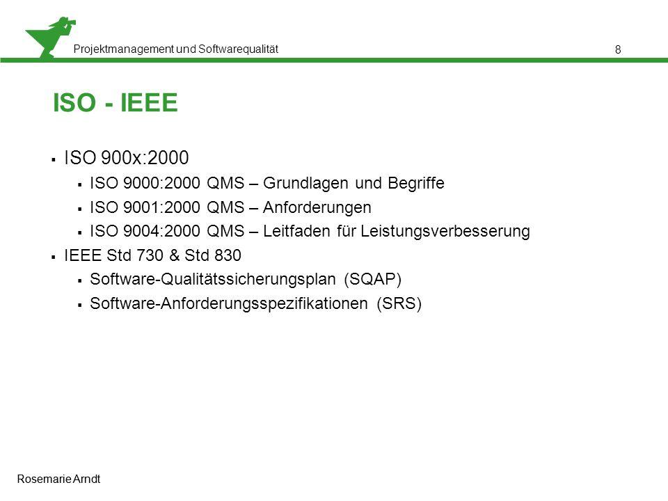 ISO - IEEE ISO 900x:2000 ISO 9000:2000 QMS – Grundlagen und Begriffe