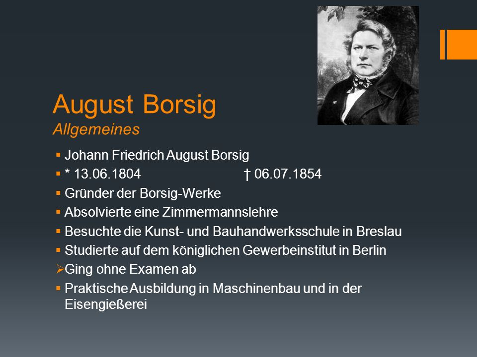 August Borsig Allgemeines