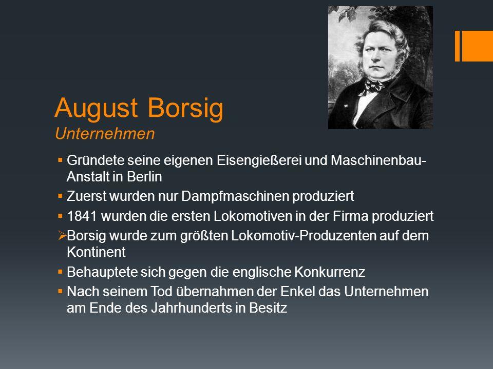 August Borsig Unternehmen