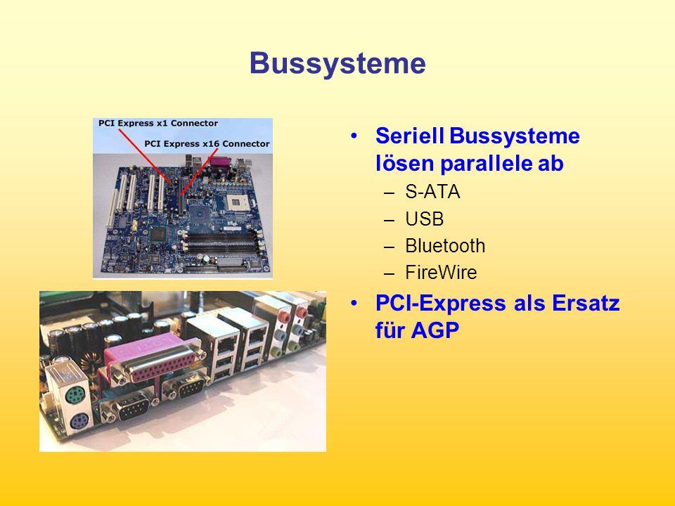 Bussysteme Seriell Bussysteme lösen parallele ab