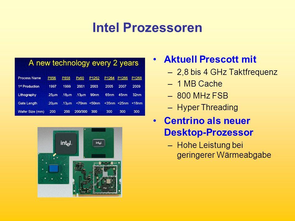 Intel Prozessoren Aktuell Prescott mit