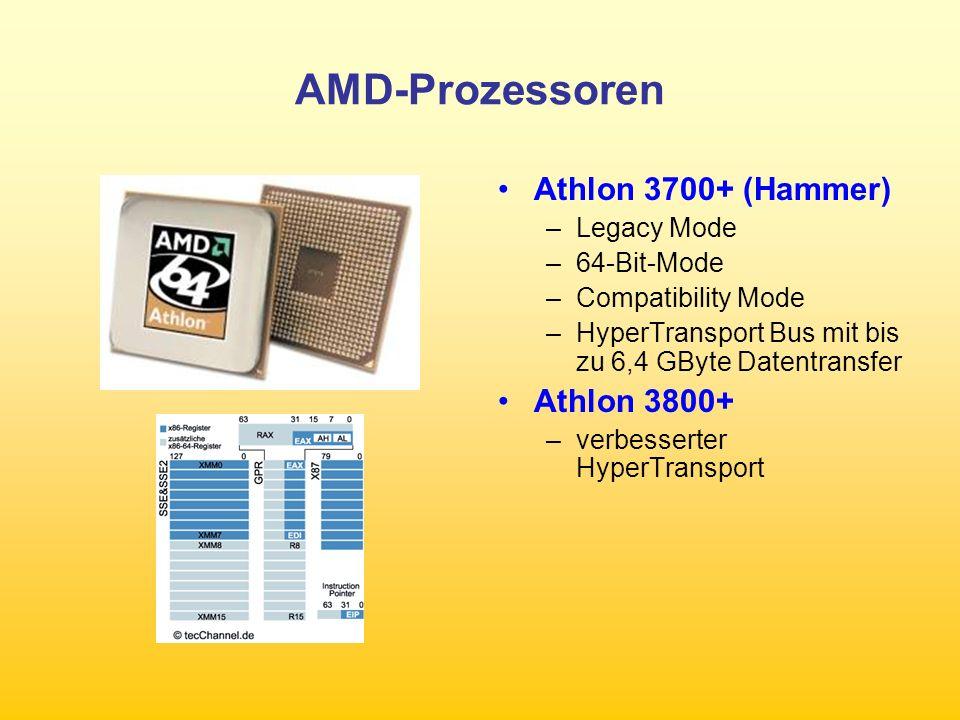 AMD-Prozessoren Athlon 3700+ (Hammer) Athlon 3800+ Legacy Mode