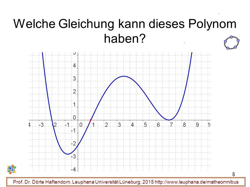 Welche Gleichung kann dieses Polynom haben