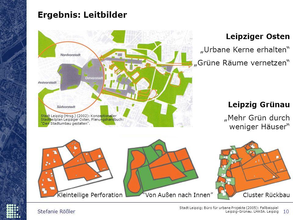 """Ergebnis: Leitbilder Leipziger Osten """"Urbane Kerne erhalten"""