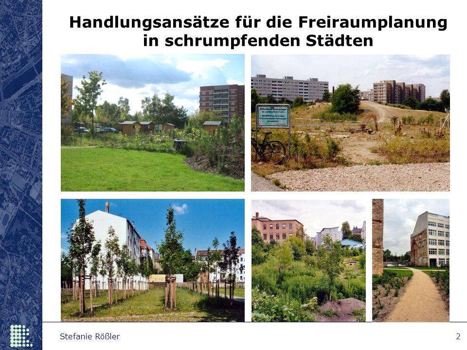 Handlungsansätze für die Freiraumplanung in schrumpfenden Städten