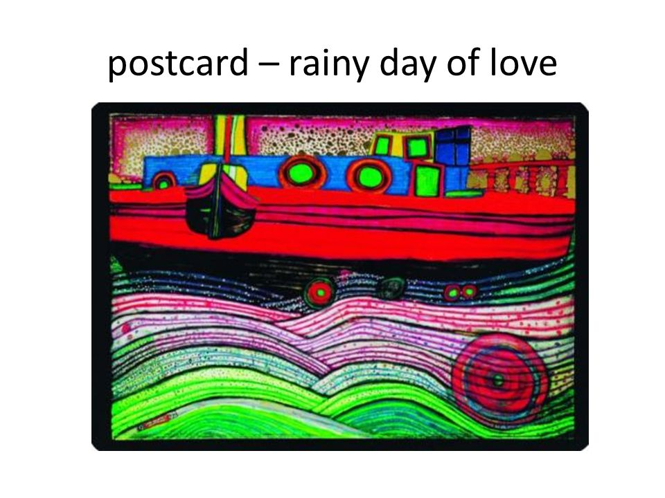 postcard – rainy day of love