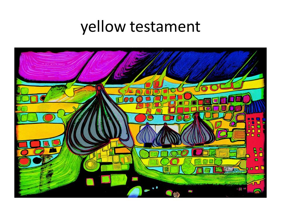 yellow testament