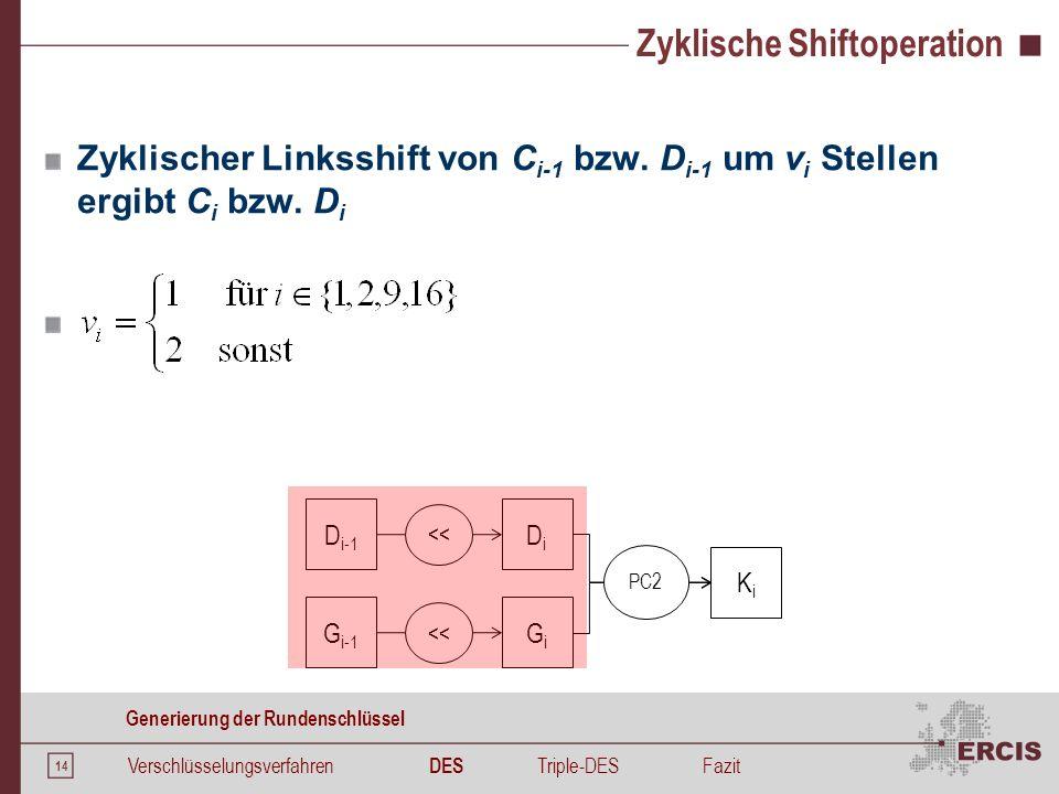 Zyklische Shiftoperation - Beispiel
