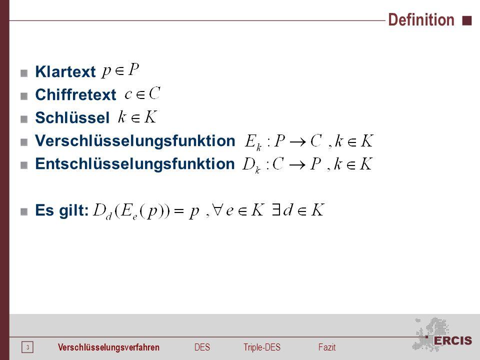 Systematisierung Dimension Schlüssel Dimension Klartext