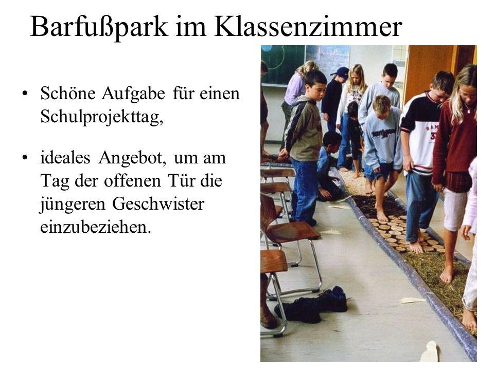 Barfußpark im Klassenzimmer