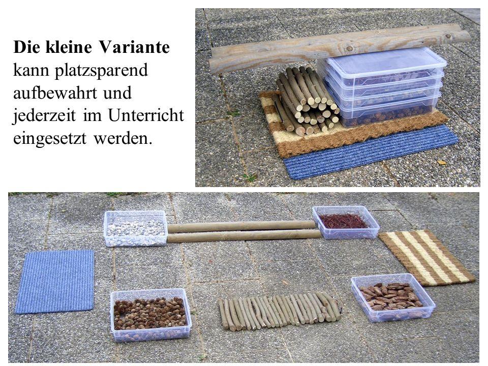 Die kleine Variante kann platzsparend aufbewahrt und jederzeit im Unterricht eingesetzt werden.