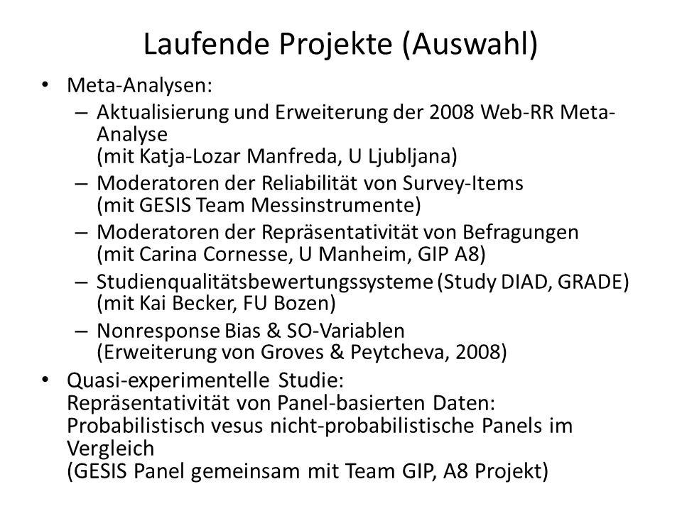 Laufende Projekte (Auswahl)