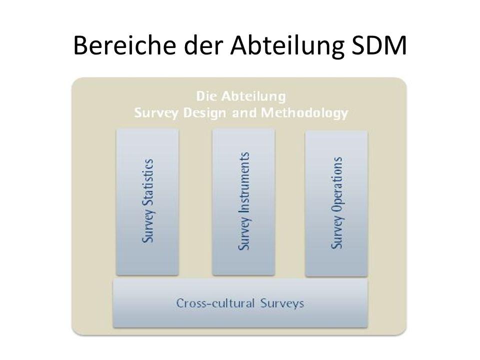 Bereiche der Abteilung SDM