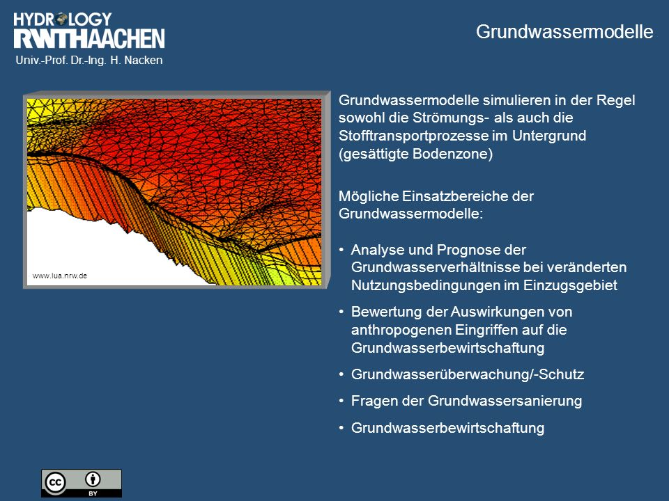 Grundwassermodelle