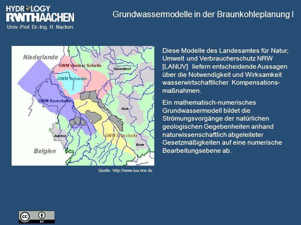 Grundwassermodelle in der Braunkohleplanung I