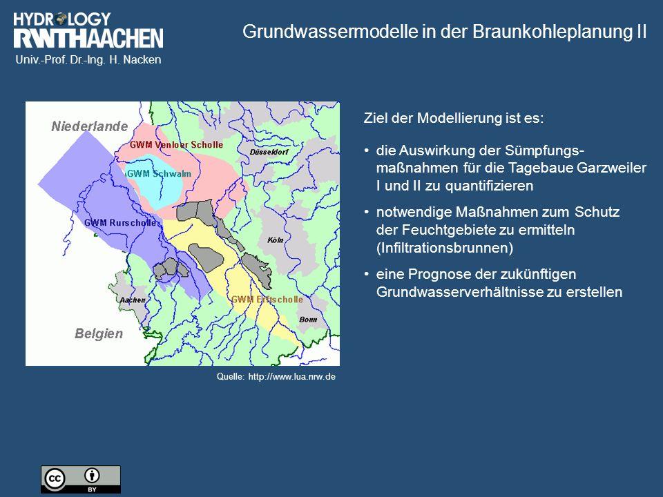 Grundwassermodelle in der Braunkohleplanung II