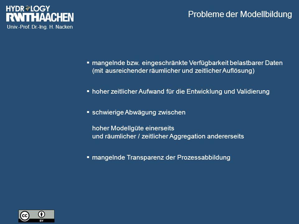 Probleme der Modellbildung
