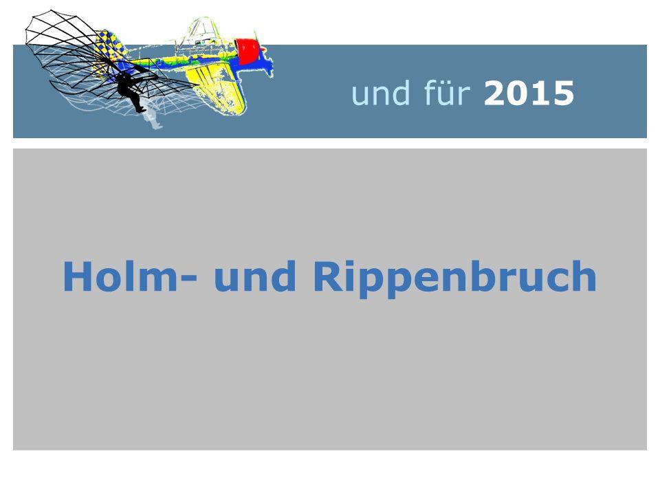 und für 2015 Holm- und Rippenbruch