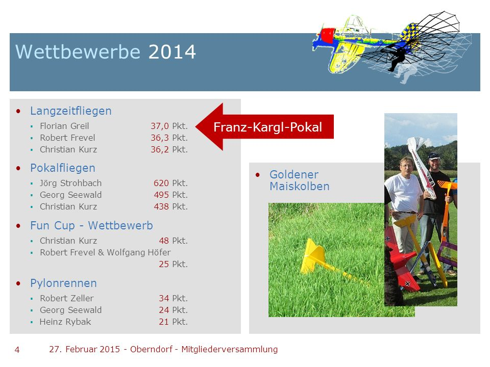 Wettbewerbe 2014 Franz-Kargl-Pokal Langzeitfliegen Pokalfliegen