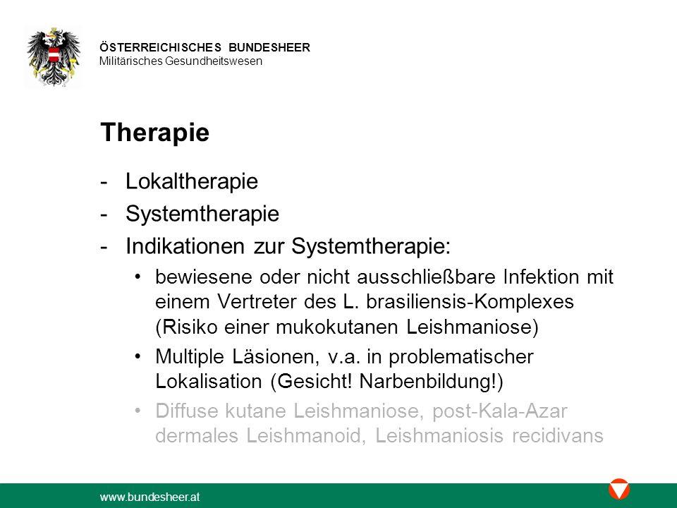 Therapie Lokaltherapie Systemtherapie Indikationen zur Systemtherapie: