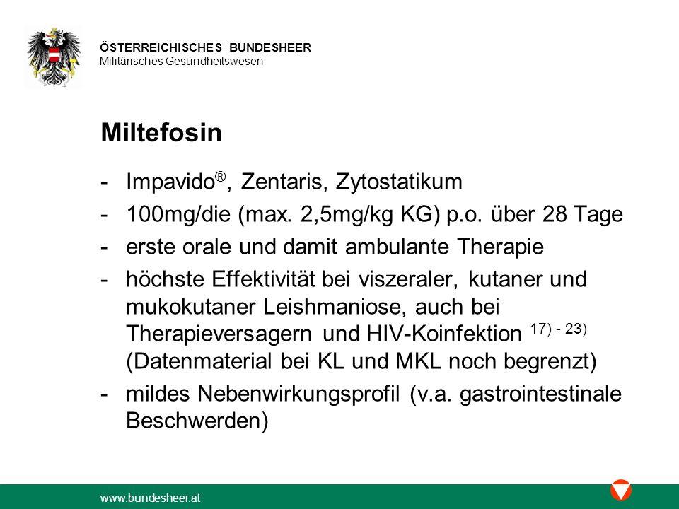 Miltefosin Impavido®, Zentaris, Zytostatikum