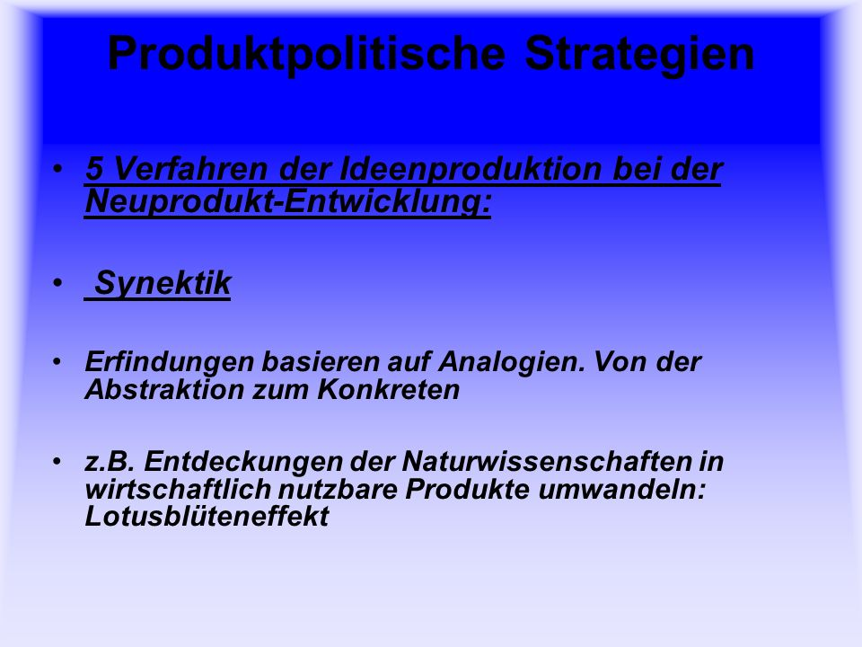 Produktpolitische Strategien