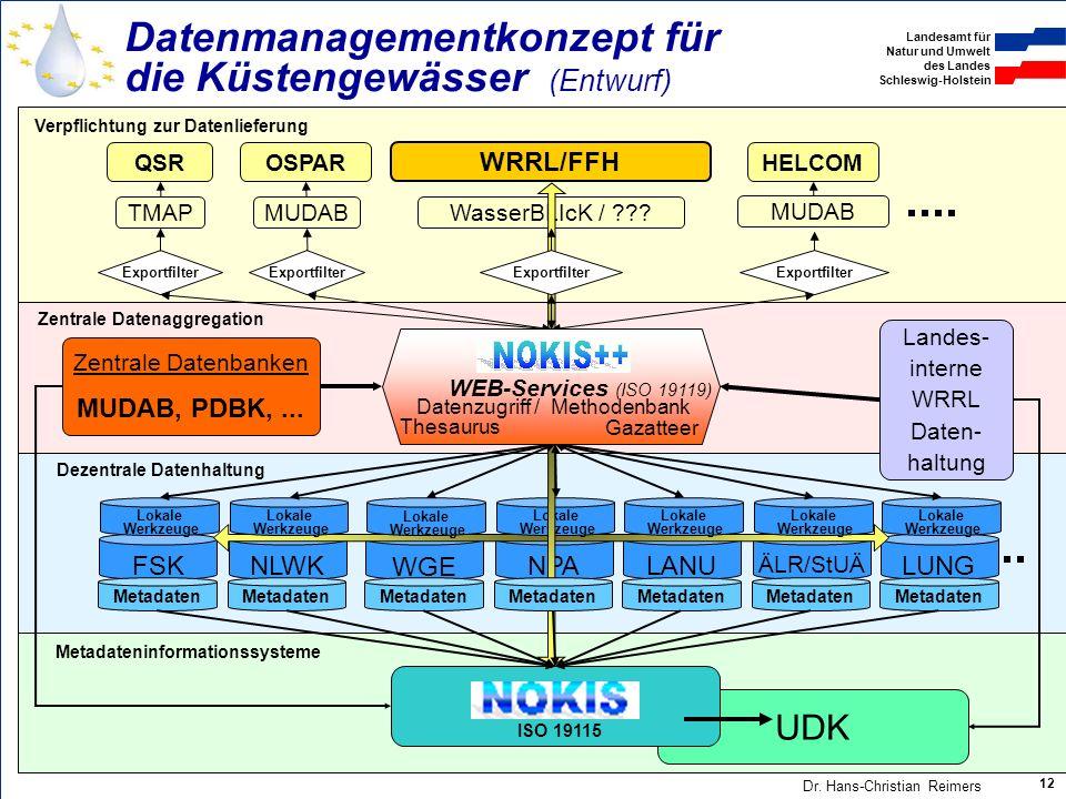 Datenmanagementkonzept für die Küstengewässer (Entwurf)