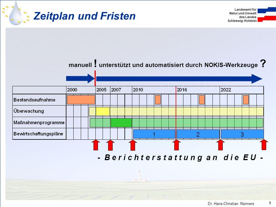 Zeitplan und Fristen manuell ! unterstützt und automatisiert durch NOKIS-Werkzeuge 1. 2. 3.